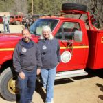 Crown King Fire Dept Chief Steve Lombardo and his wife Linda